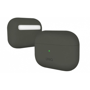 Чехол для Apple AirPods Pro (Uniq Lino Hybrid Liquid Silicon AIRPODSPRO-LINOMOSS) (Moss Grey)
